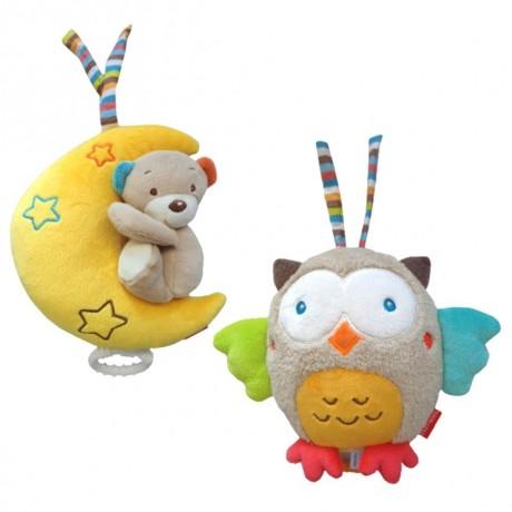 Glasbena igračka na poteg - Sovica, medvedek, lunica