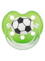 OTROŠKA POMIRJEVALNA DUDICA z nogometnim motivom, anatomske oblike št: 2